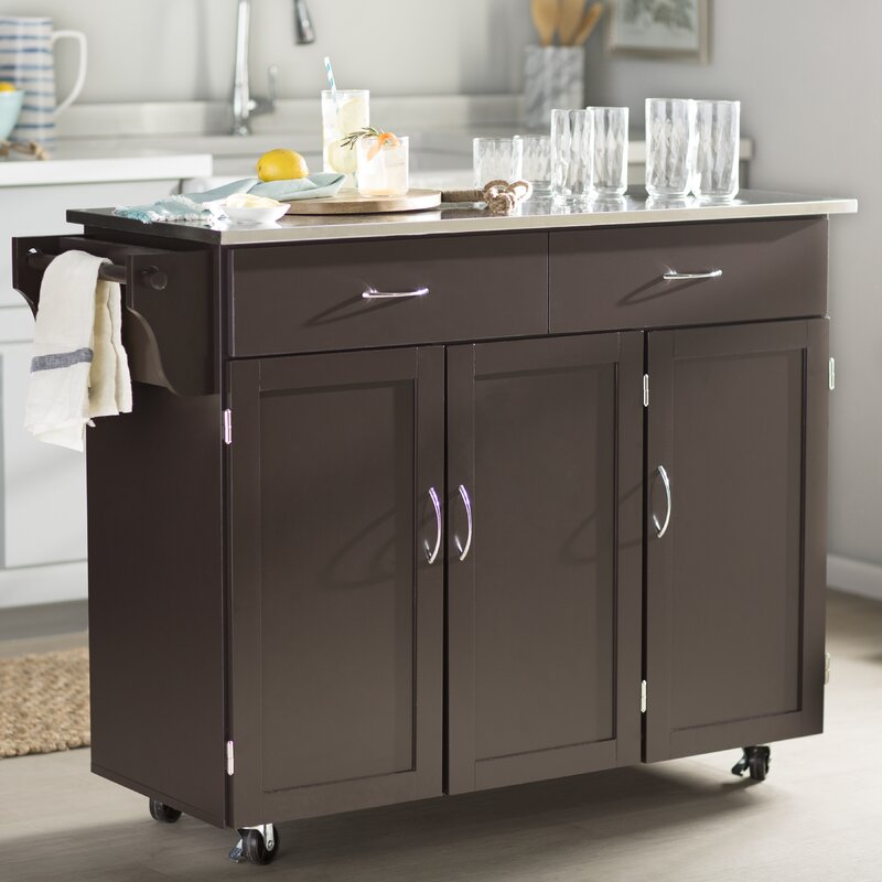 Incroyable Garrettsville Kitchen Cart With Stainless Steel Top