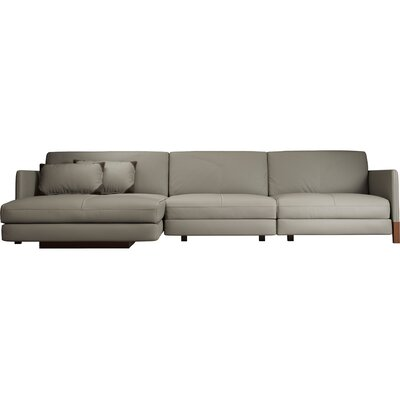 Modern Grey Leather Sectionals Allmodern