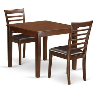Oxford Faux Leather 3 Piece Dining Set by East W..