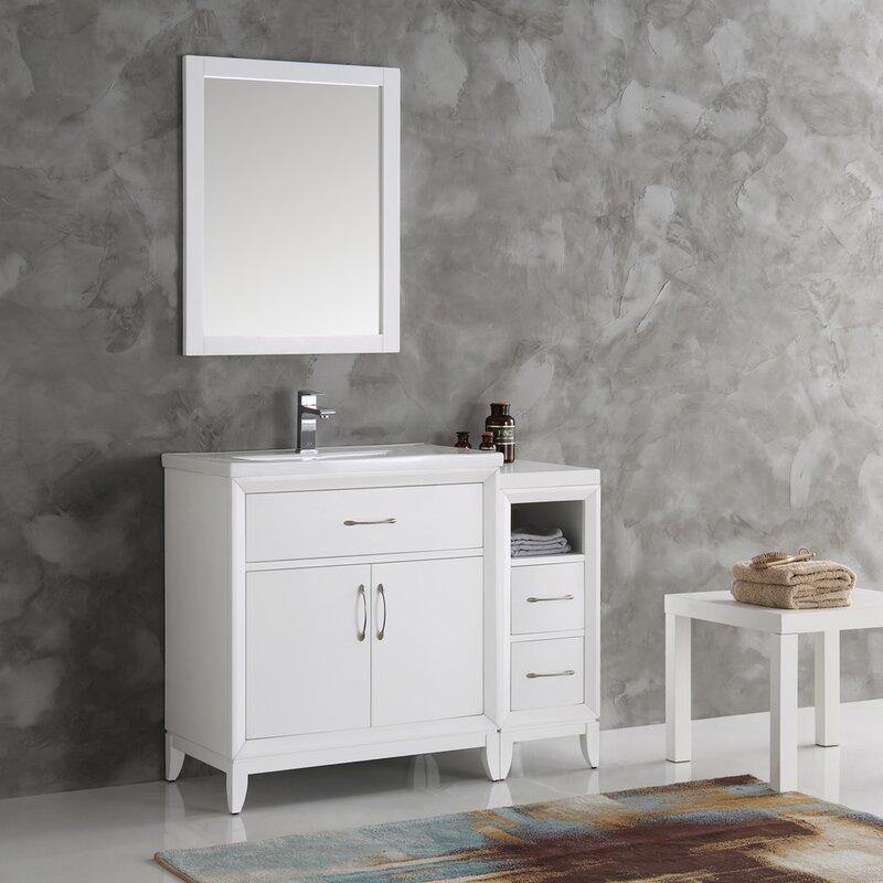 "fresca cambridge 42"" single traditional bathroom vanity set with"