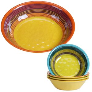 Sedona Heavy Weight Melamine 5 Piece Salad Serving Bowl Set