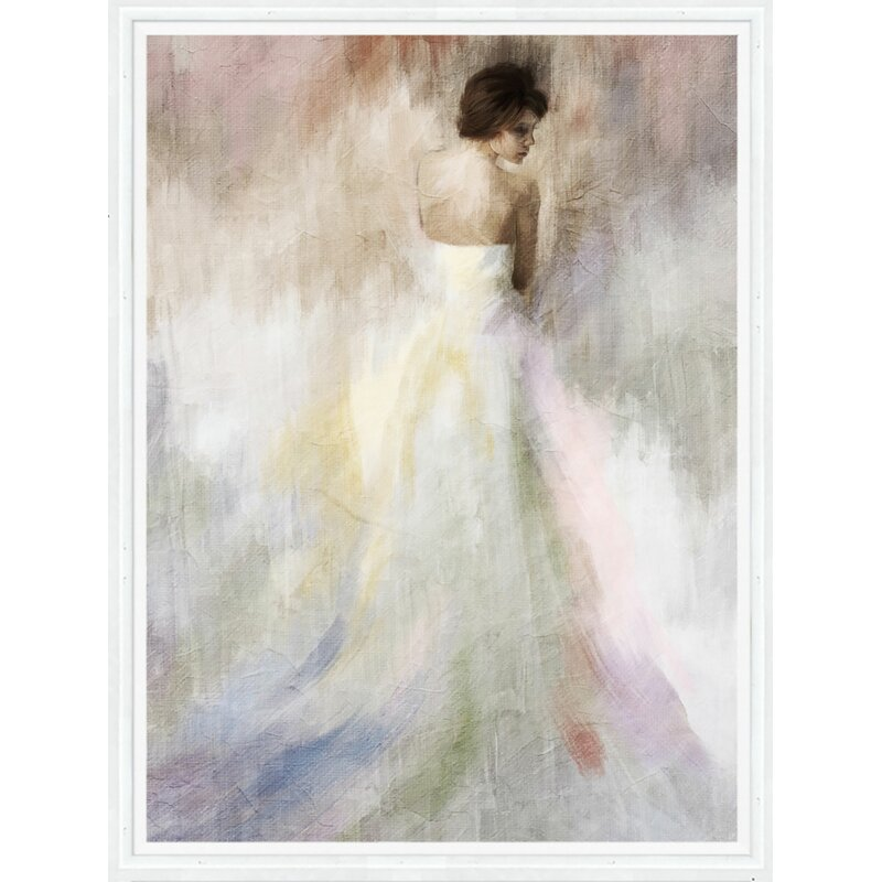 PTM Images Woman in White Framed Painting Print on Canvas & Reviews ...