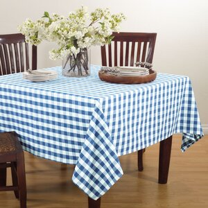 Saro Gingham Design Tablecloth