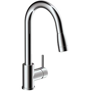 Estora Vanteno Single Handle Pull Down Kitchen Faucet with Lever Handle