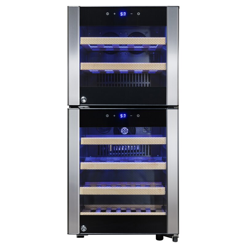 AKDY 33 Bottle Dual Zone Wine Cooler