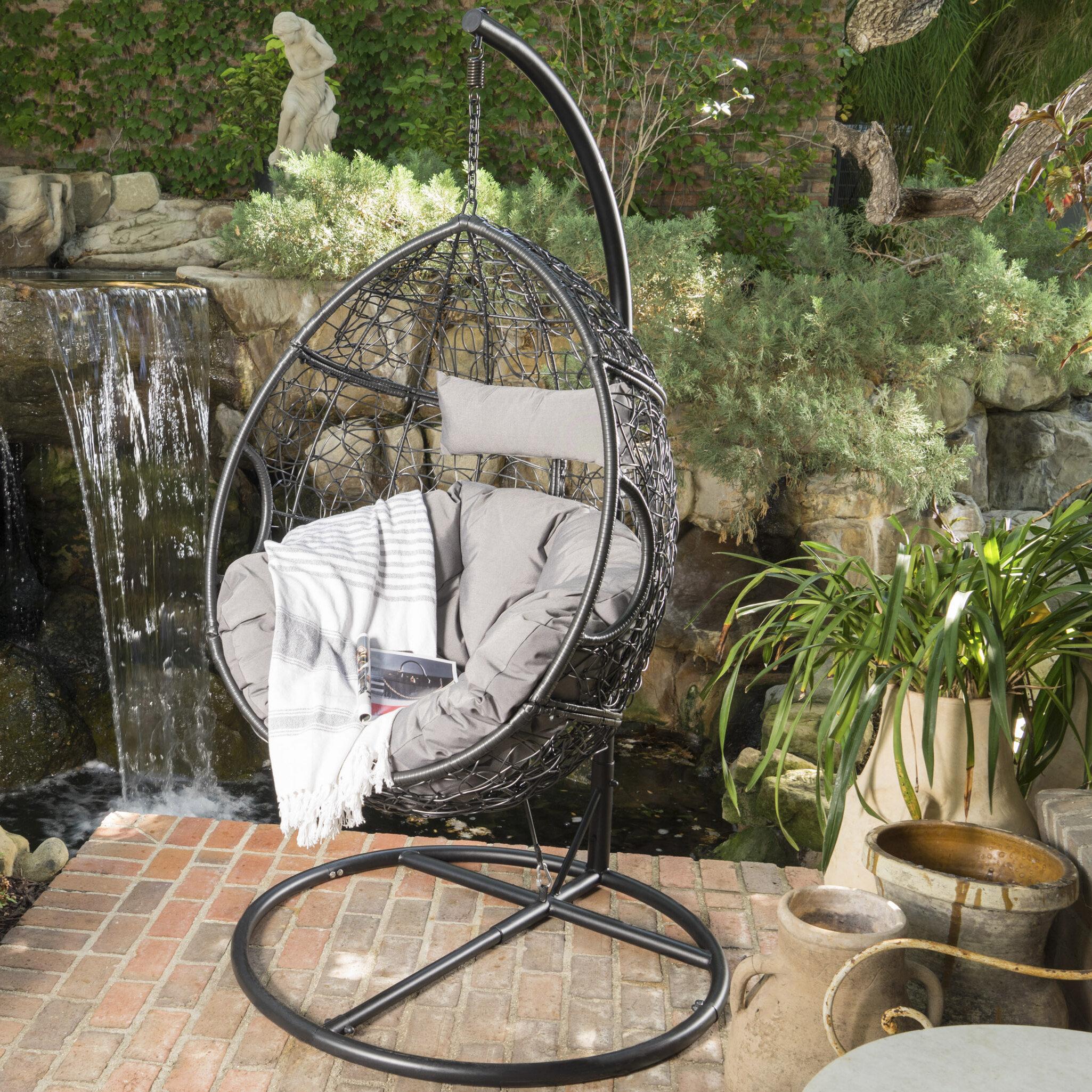 patio with hammock modern concept egg swinging chair swing wicker