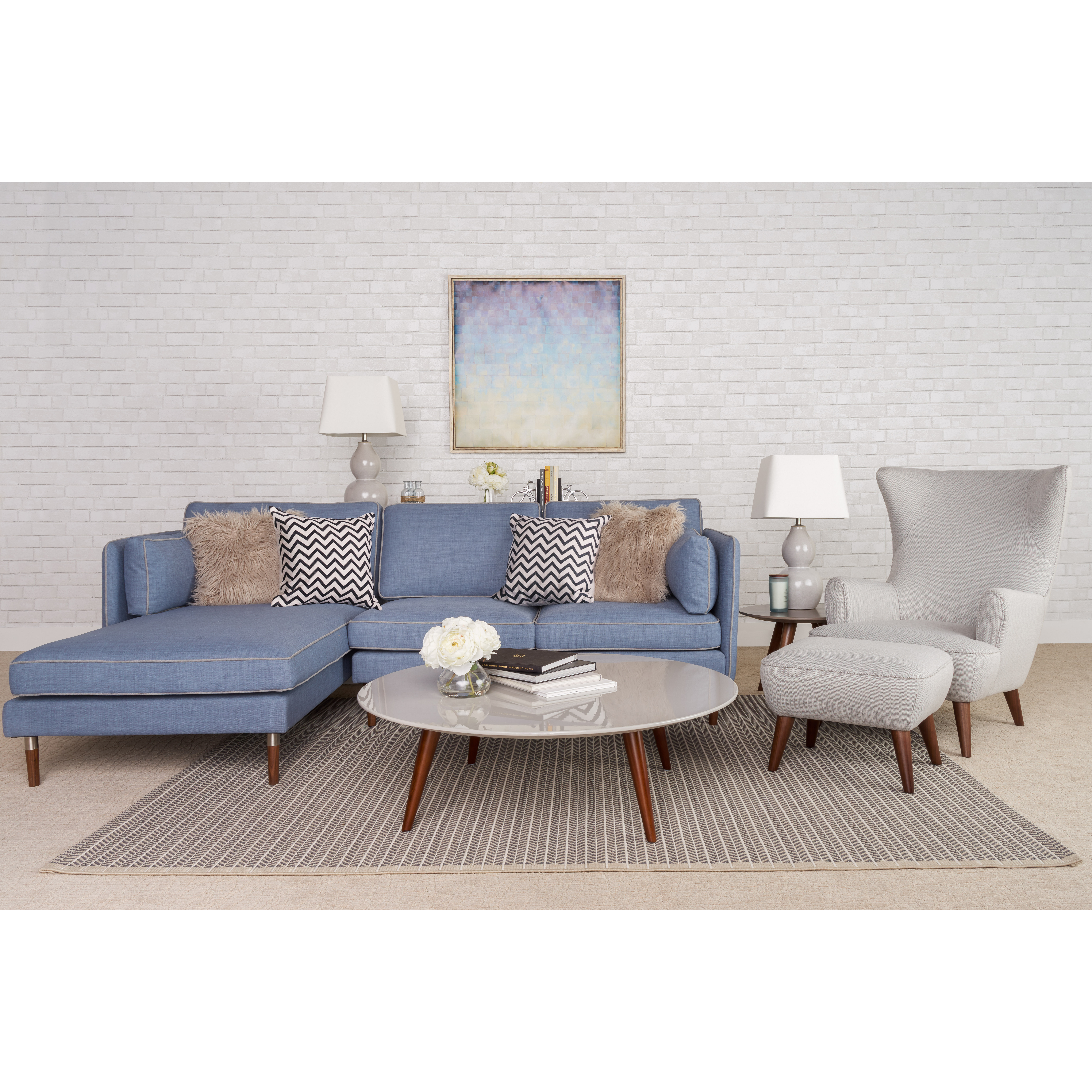 Corrigan Studio Shelburne 5 Piece Living Room Set | Wayfair