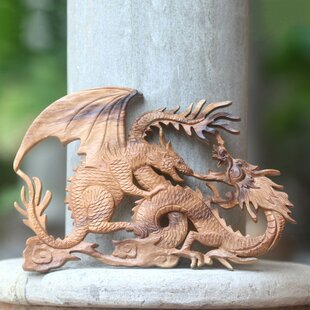 smartness inspiration dragon decor. Dragon Fight Artisan Crafted Balinese Wood Panel Wall D cor Decor Wayfair  Smartness Mdf Carved Decorative Home Design Plan