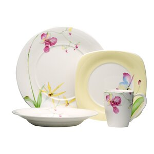 Leilani 16 Piece Dinnerware Set, Service for 4