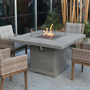 Damion Dining Concrete Propane Fire Pit Table