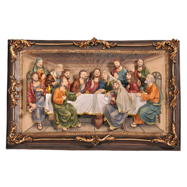 """Last Supper Wall Decor charlton home """"the last supper"""" 3-d plaque wall décor & reviews"""