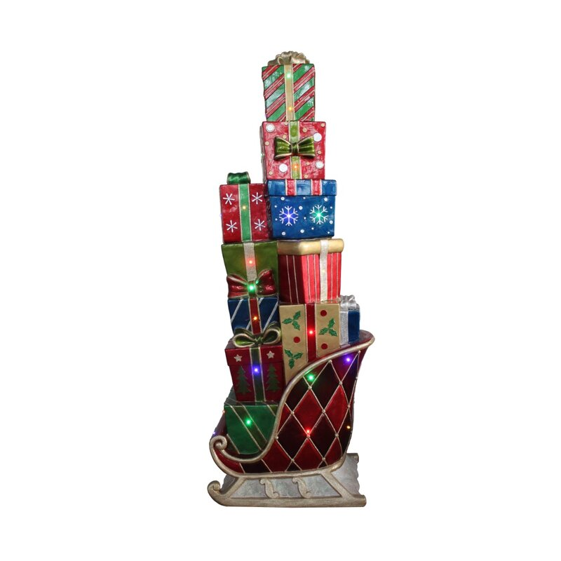 Commercial Grade Christmas Decorations: Northlight LED Lighted Commercial Grade Sleigh Stacked