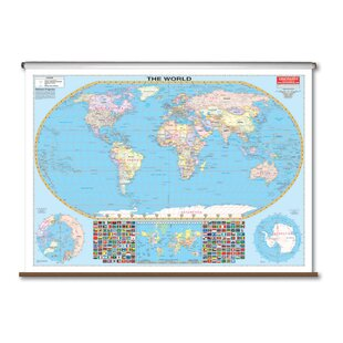 Large World Wall Maps Wayfair