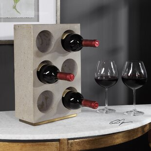 Lozoya Concrete 6 Bottle Tabletop Wine Rack