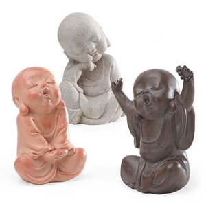 3 Piece Baby Buddha Sculpture Set