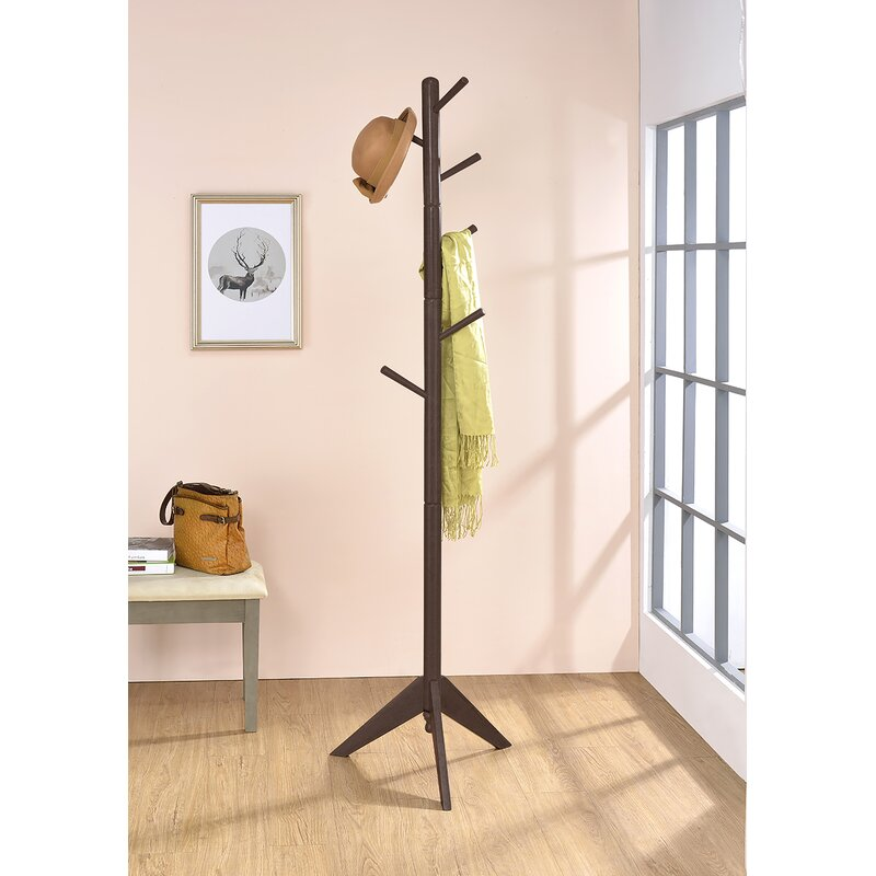 37f434d349237 Zipcode Design Freestanding Wood Coat Rack   Reviews