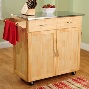 Large Kitchen Cart With Wheels | Wayfair