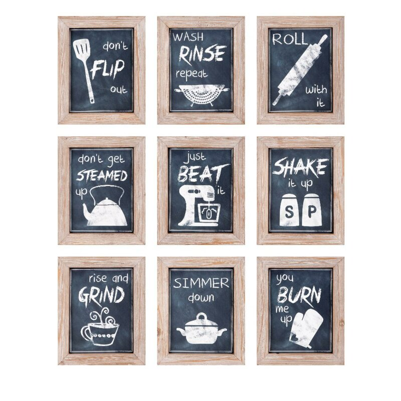 Wall Decor For Kitchen   Woodland Imports 9 Piece Kitchen Inspirations Wall Decor Reviews