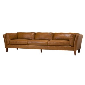 Design Tree Home Draper 4 Seater Leather Sofa Image
