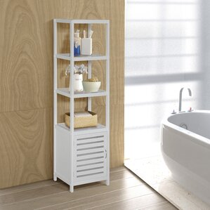 bathroom linen cabinets. Spa 14 5  W x 54 H Linen Tower Cabinets Towers You ll Love Wayfair
