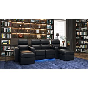 Leather Home Theater Sofa (Row Of 4)