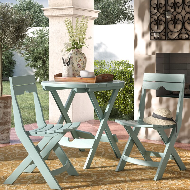 Quebec 3 piece bistro set reviews joss main for Outdoor furniture quebec