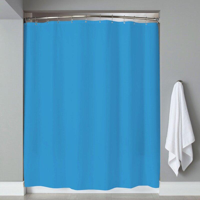 Grommets Magnets PVC Shower Curtain