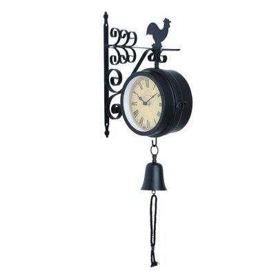 metal outdoor double wall clock