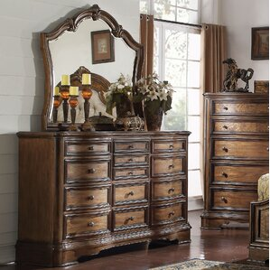 Crispin 13 Drawer Dresser with Mirror by Darby Home Co