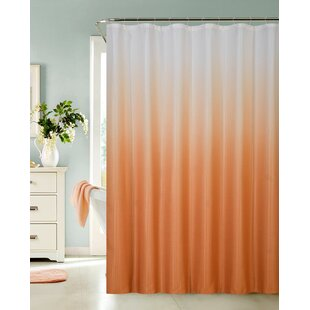 Modern Orange Shower Curtains