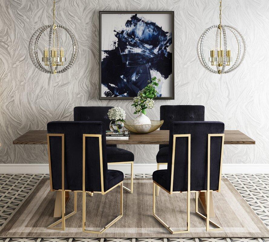 Everly Quinn Alvaro 5 Piece Dining Table Set   Wayfair
