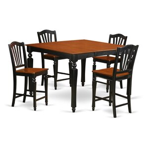 Ashworth 5 Piece Counter Height Dining Set by Darby Home Co