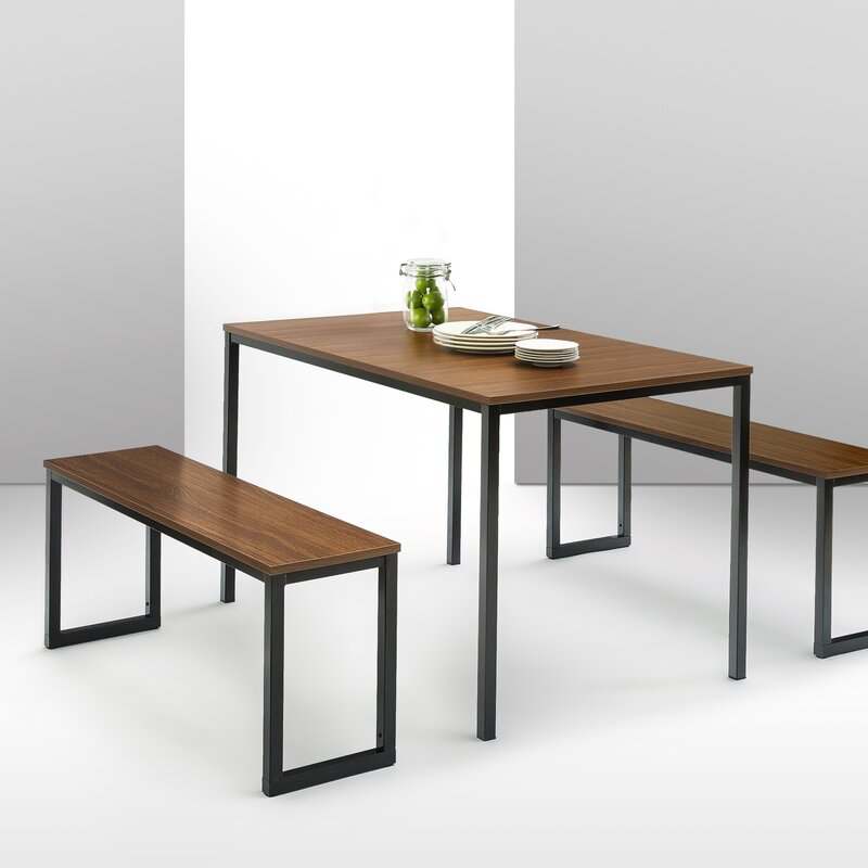 Walser 3 Piece Dining Table Set & Reviews | AllModern