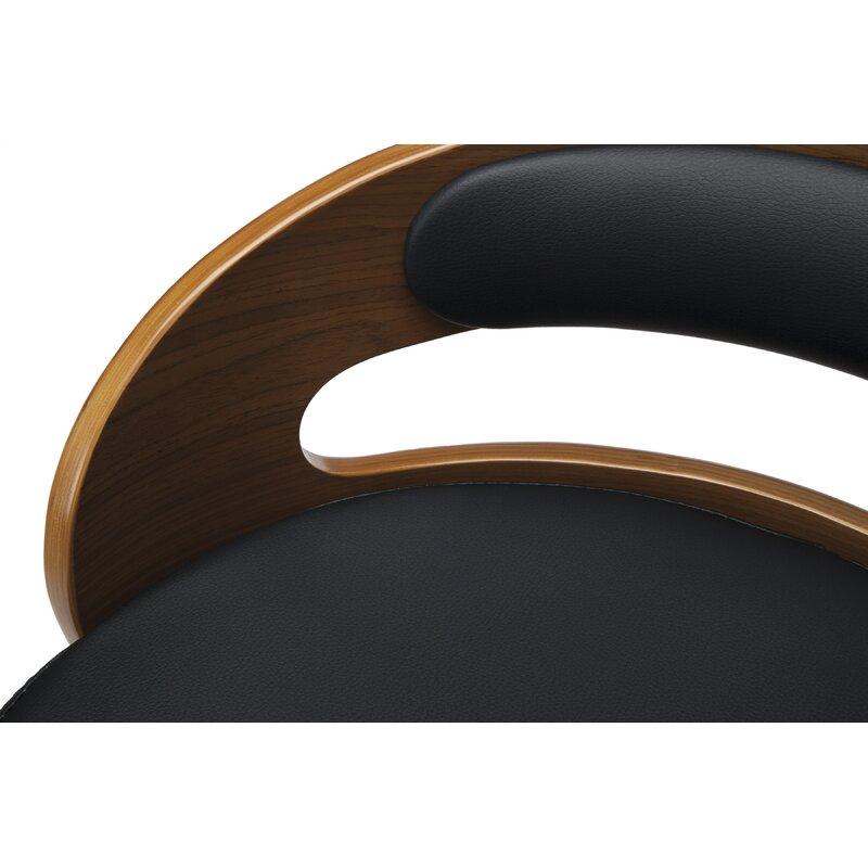 Superb Labelle Mid Century Modern Low Back Bentwood Frame 30 Swivel Bar Stool Dailytribune Chair Design For Home Dailytribuneorg