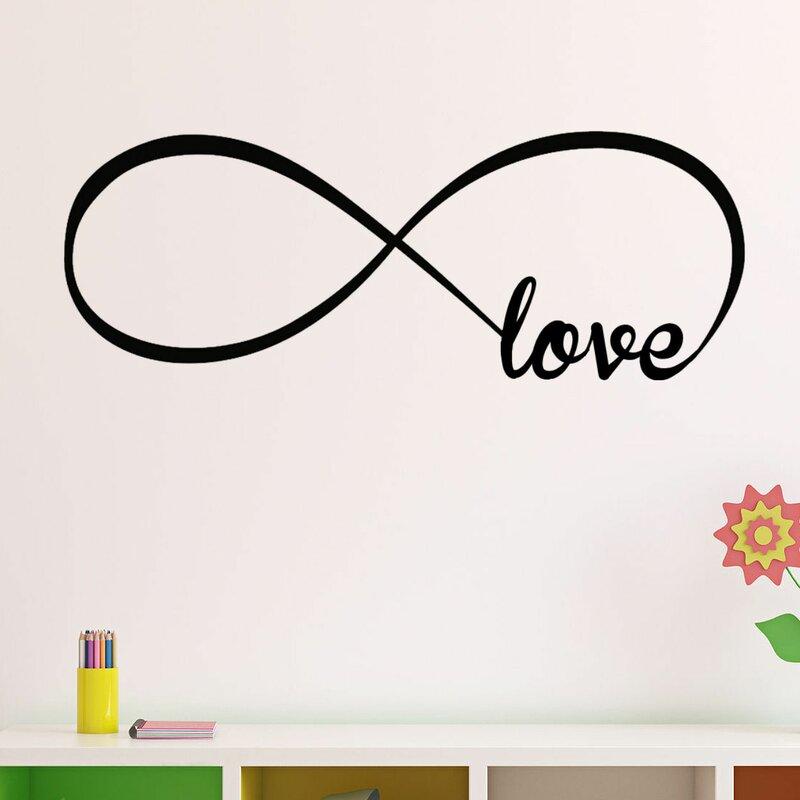 Decalthewalls Infinity Symbol Love Wall Decal Reviews Wayfair