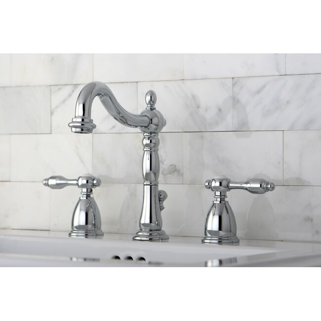 Bathroom Faucets Kingston kingston brass tudor double handle widespread bathroom faucet with