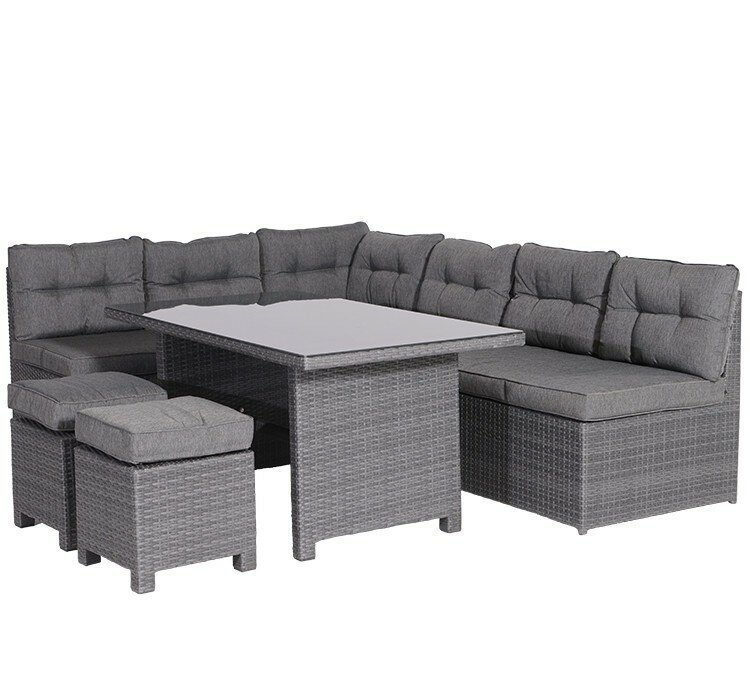 garten living 5 sitzer ecksofa set fosse aus polyrattan mit polster bewertungen. Black Bedroom Furniture Sets. Home Design Ideas