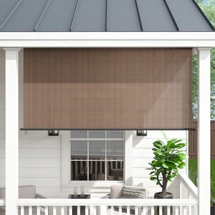 Outdoor Solar Shades Motorized | Wayfair ca