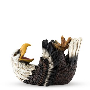 Polyresin Elated Eagle Tabletop Wine Bottle Rack