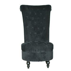 High Back Side Chair and Ottoman by HomCom