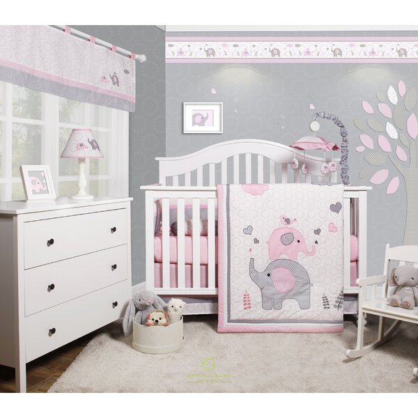 Harriet Bee Cheatwood Elephant Baby Nursery 6 Piece Crib Bedding Set Reviews Wayfair
