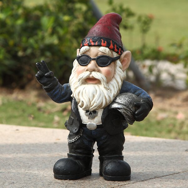 Beautiful Hi Line Gift Ltd. Biker Gnome Statue U0026 Reviews | Wayfair
