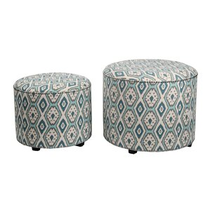 2 Piece Round Ottoman by Privilege