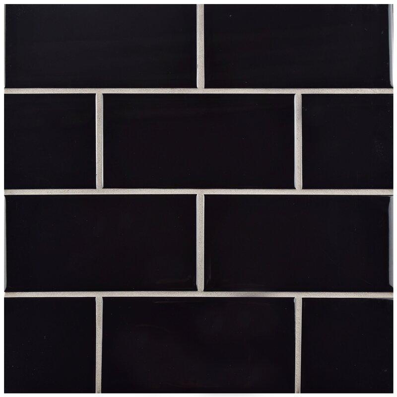 Prospect 3 X 6 Ceramic Subway Tile In Black