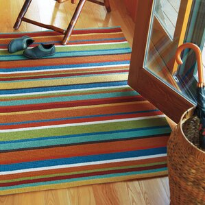 Cabana Orange Stripe Indoor/Outdoor Area Rug