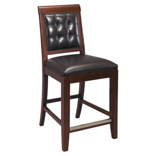 Sammi 25 Upholstered Leather Bar Stool (Set of 2)