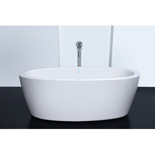 freestanding tub with jets. Purescape 63  x 30 Whirlpool Freestanding Bathtub Tub With Jets Wayfair