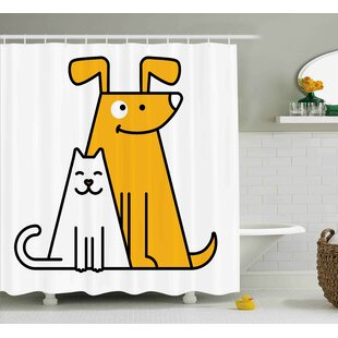 Lucia Cats And Dogs Friends Shower Curtain