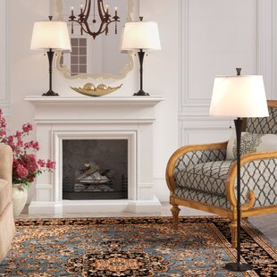 Herrin 3 Piece Table and Floor L& Set & Lamp Shades For Floor Lamps | Wayfair