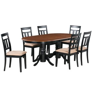 Jaylin 7 Piece Extendable Solid Wood Dining Set